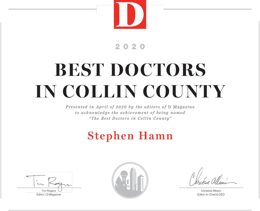 Stephen hamn, MD Best Doctor D Magazine